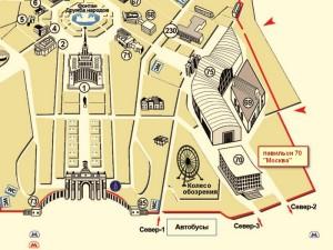 Павильон 70 ВДНХ - карта