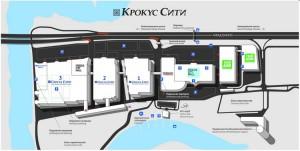 Крокус Сити схема