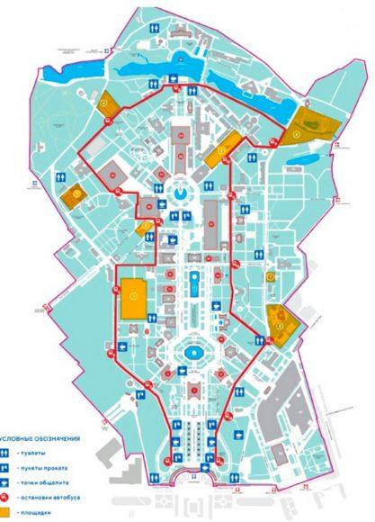Схема движения автобуса ВДНХ
