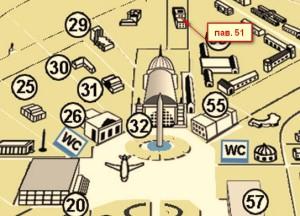 павильон 51 на карте